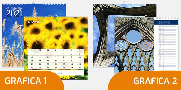 Calendario da muro 2021 formato 31x31 cm scegli la tua grafica