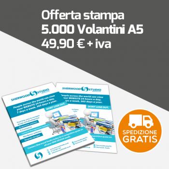Stampa 5000 Volantini Pubblicitari A5