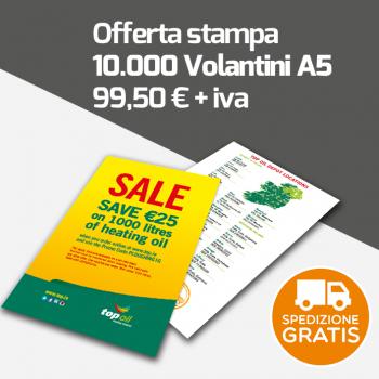 10000 Volantini A5 spedizione gratuita