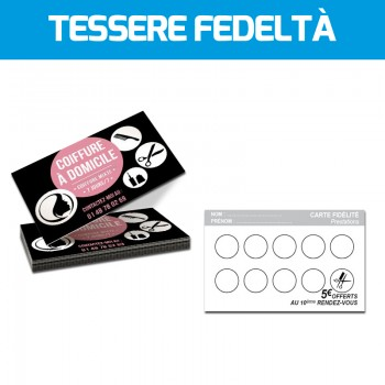 STAMPA TESSERE PERSONALIZZATE, BADGE E FIDELITY CARD ONLINE