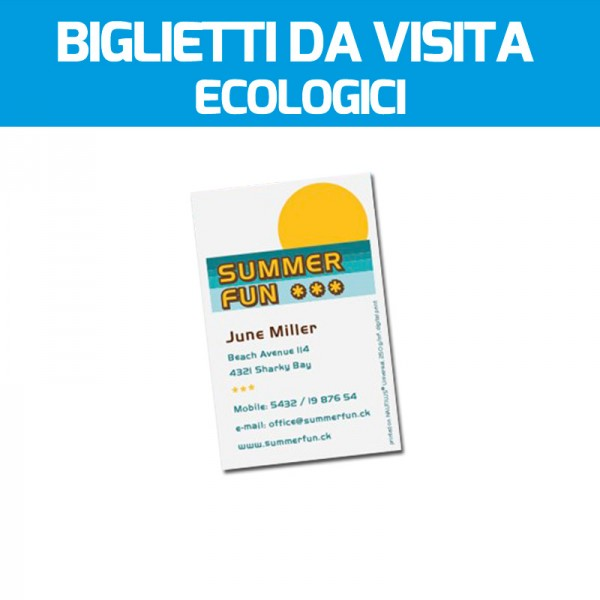 Biglietti da visita su carta ecologica