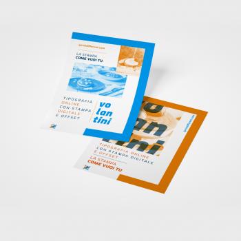 Stampa on line di volantini A5 (14.8x21 cm)