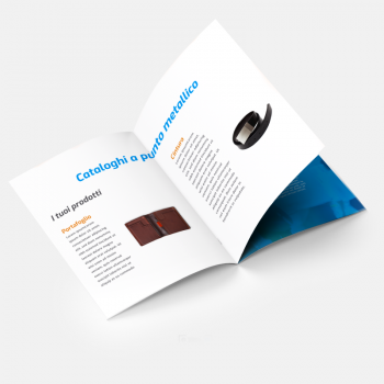 Stampa cataloghi e riviste online con rilegatura a punto metallico