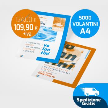 Stampa 5000 Volantini A4 spedizione gratuita