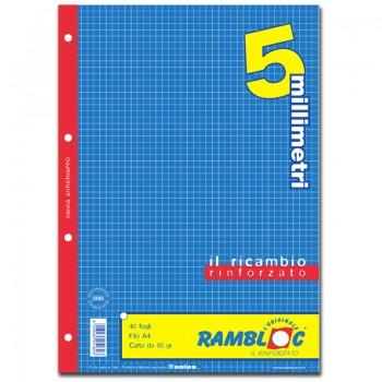 RICAMBIO BIANCO A4 5 MM