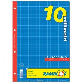 RICAMBIO BIANCO A4 10 MM