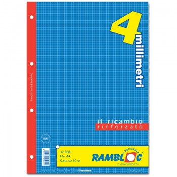 RICAMBIO BIANCO A4 4 MM