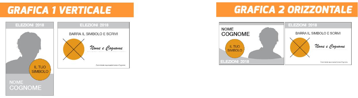 Scegli la grafica per i tuoi santini elettorali