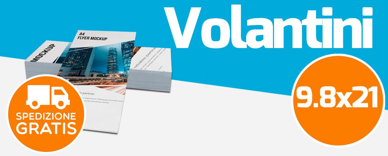 Stampa con offset digitale su volantini formato 9.8x21 cm