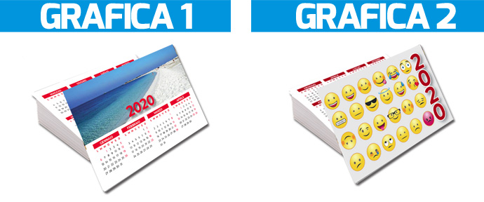 scegli la grafica personalizzata per i tuoi calendari tascabili 2020