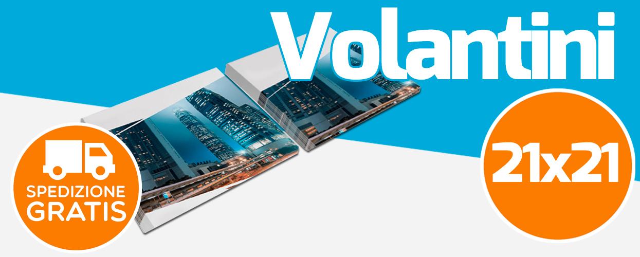 Tipografia online per la stampa di volantini quadrati 21x21 cm