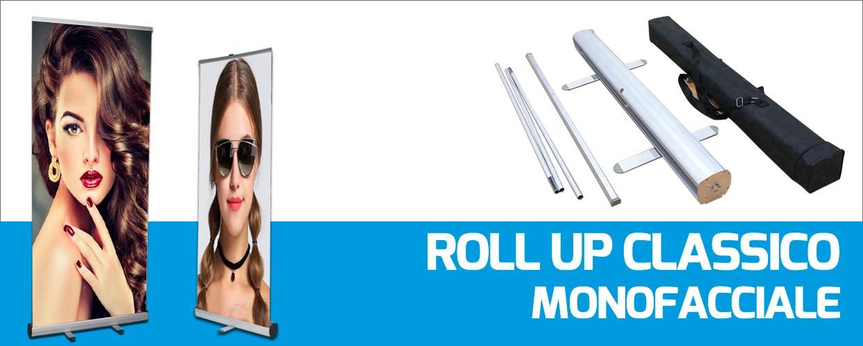 roll up banner pubblicitari monofacciali venduti a prezzi economici