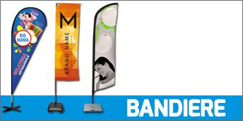 Bandiere e vele pubblicitarie: a goccia, rettangolari e ad ala