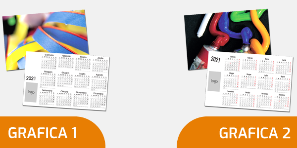 scegli la grafica personalizzata per i tuoi calendari tascabili 2021