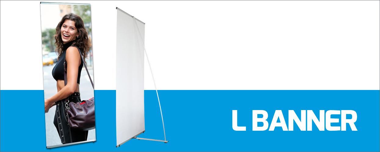 L Banner personalizzati. Stampa digitale online per aziende