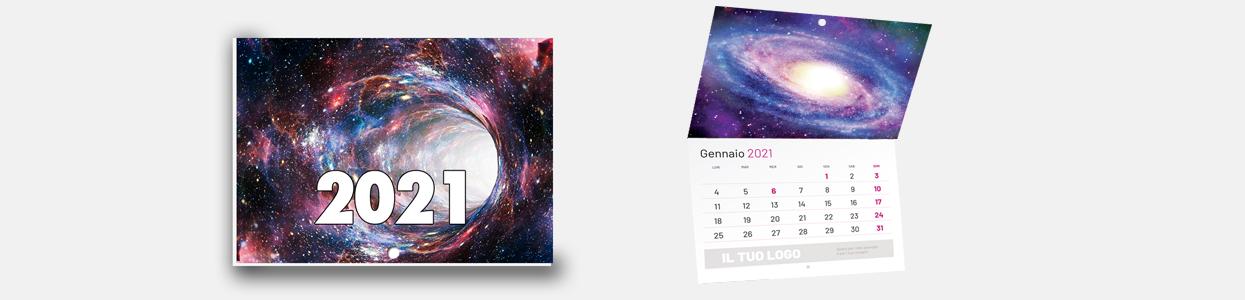 Calendario 2021 da muro con punto metallico