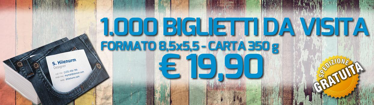 1000 biglietti da visita a 19,90 €