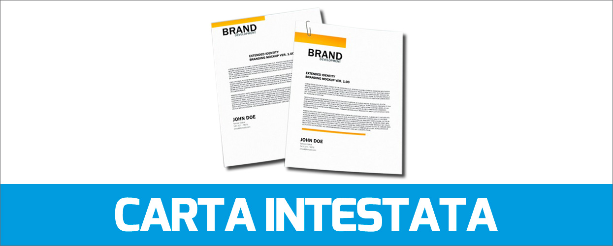 Stampa carta intestata professionale