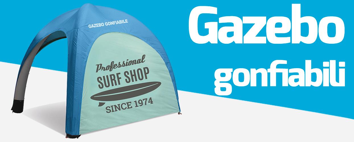 Gazebo gonfiabili pubblicitari 3x3 da personalizzare online