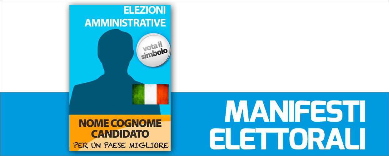 Manifesti elettorali: stampa online la propaganda per la tua campagna politica