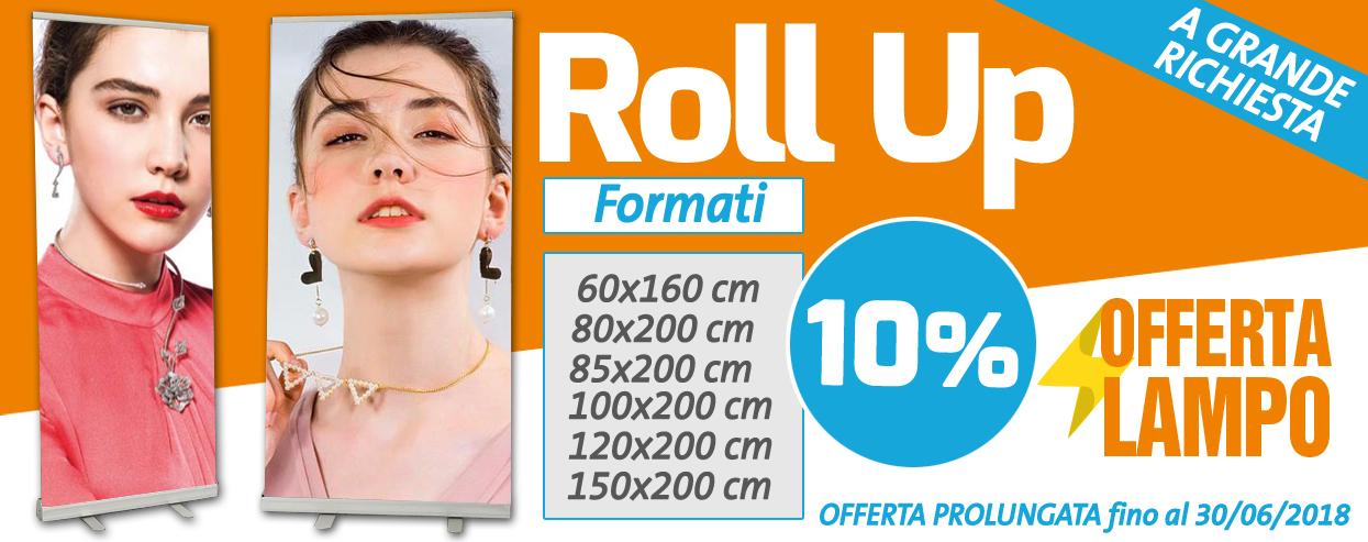 Offerta promozionale 10% di sconto su tutti i Roll Up