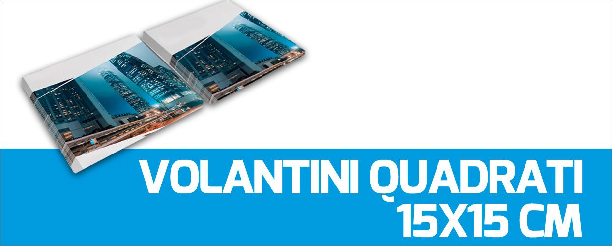 Volantini quadrati 15x15cm