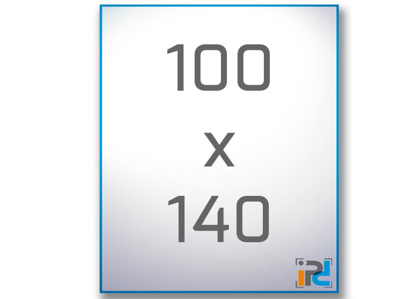 100 cm x 140 cm