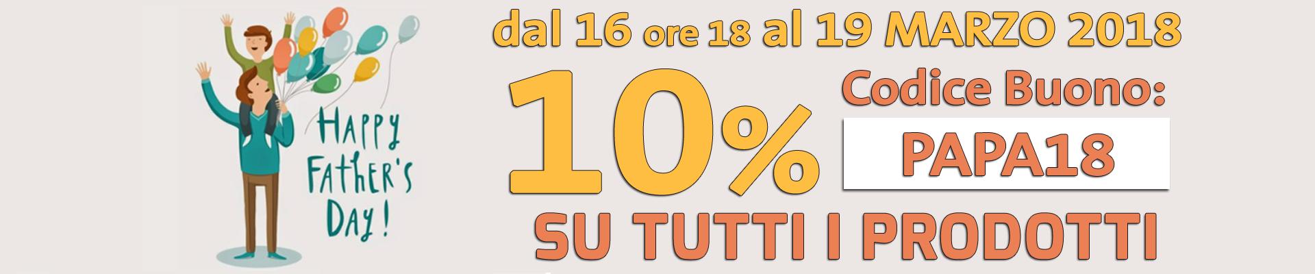 Buono sconto 10% per la festa del Papà