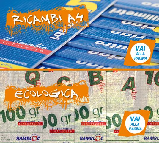 Ricambia Rinforzati A4 e ecologica